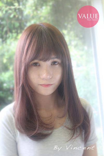 台中染髮,粉紫色系髮色