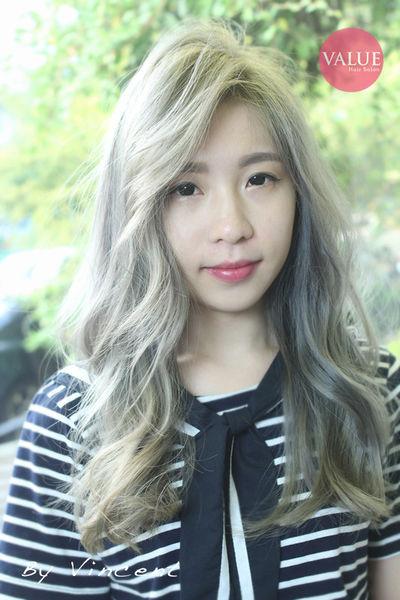 台中染髮,灰感色系髮色